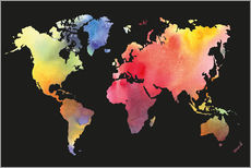 Wall sticker  World map in Watercolor