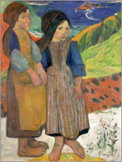 Premium poster  Little Breton Girls - Paul Gauguin