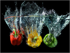 Wall sticker  Peppers splash