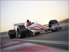Gallery print  F1 racing car in motion