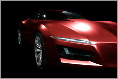 Wall Stickers  Red sports car