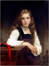 Gallery print  The small spinner - William Adolphe Bouguereau