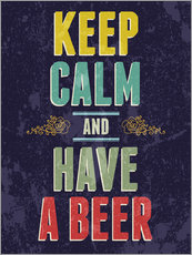 Wall sticker  Keep calm and have a beer - Typobox