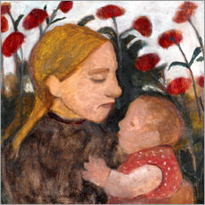 Wall sticker  Young woman with child - Paula Modersohn-Becker