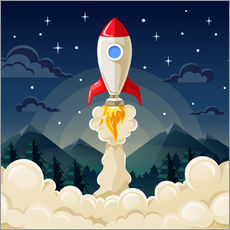 Gallery print  Rocket take-off - Kidz Collection