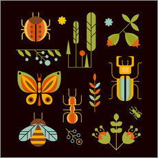 Wall sticker  Retro Insects