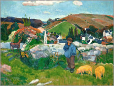 Acrylic print  The swineherd - Paul Gauguin