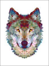 Wall Stickers  Polygon Wolf