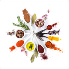 Wall sticker  Spice and herb'clock