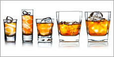 Wall sticker  alcoholic drinks with natural ice