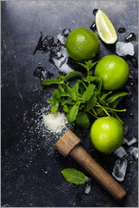 Wall sticker  Mojito ingredients