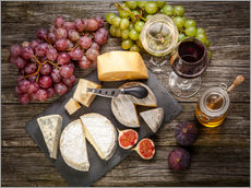 Gallery print  Wine and Cheese still life
