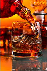 Gallery print  whiskey and ice