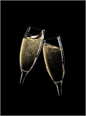 Wall sticker  Cheers! Two Champagne Glasses