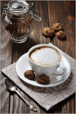 Wall sticker  Cup of Coffee with Cookies