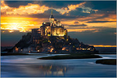 Wall Stickers  Mont Saint-Michel at sunset