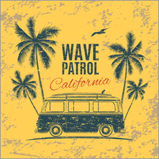 Wall sticker  Wave Patrol California