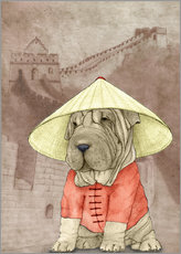 Wall sticker  Shar pei With The Great Wall - Barruf