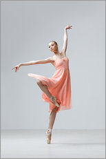 Gallery print  Ballerina in apricot