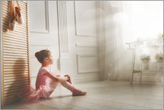 Gallery print  Little ballerina - big dreams