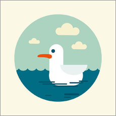 Wall sticker  Gull - Kidz Collection
