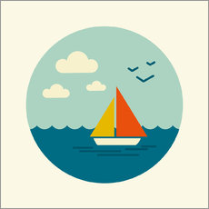 Wall sticker  Little sailboat - Kidz Collection