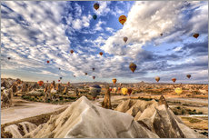 Wall sticker  Balloon spectacle Cappadocia - Turkey - Achim Thomae
