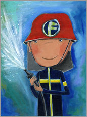 Wall sticker  My little hero Fireman Julius - Atelier BuntePunkt
