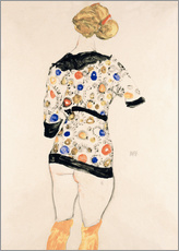 Wall sticker  Standing Woman in a Patterned Blouse - Egon Schiele