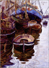 Gallery print  Boats in the port of Trieste - Egon Schiele