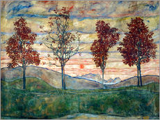 Wall sticker  Four trees - Egon Schiele
