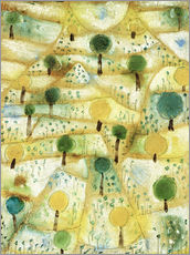 Wall sticker  Small Rhythmic Landscape - Paul Klee