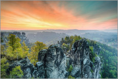 Gallery print  Bastion Saxon Switzerland Sunrise - Michael Valjak
