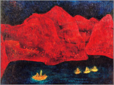 Canvas print  South coast in the evening - Paul Klee