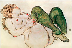 Gallery print  Nude with green stockings - Egon Schiele