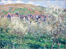 Gallery print  Plum Trees in Blossom at Vetheuil - Claude Monet