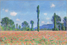 Acrylic print  Poppy field - Claude Monet