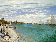 Wall sticker  Regatta at Sainte-Adresse - Claude Monet