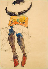 Gallery print  Nude with hat - Egon Schiele