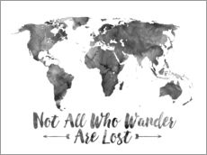 Wall sticker  Watercolor World Map - Mod Pop Deco