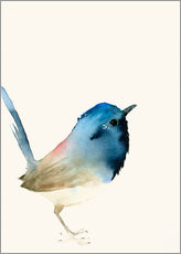 Wall sticker  Dark blue bird - Dearpumpernickel