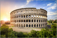 Gallery print  Colosseum at sunset in Rome, Italy - Jan Christopher Becke