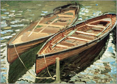 Gallery print  Boats - Claude Monet