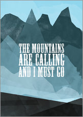 Wall sticker  The mountains are calling - RNDMS