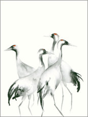 Wall sticker  Four cranes - Dearpumpernickel