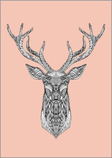 Gallery Print  Mandala deer pink - Finlay and Noa