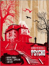 Gallery print  Alfred Hitchcock's, Psycho - 2ToastDesign