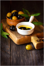 Gallery print  Green and Black Olives