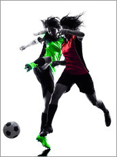 Wall sticker two soccer players
