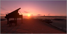 Wall sticker  Piano on the beach
